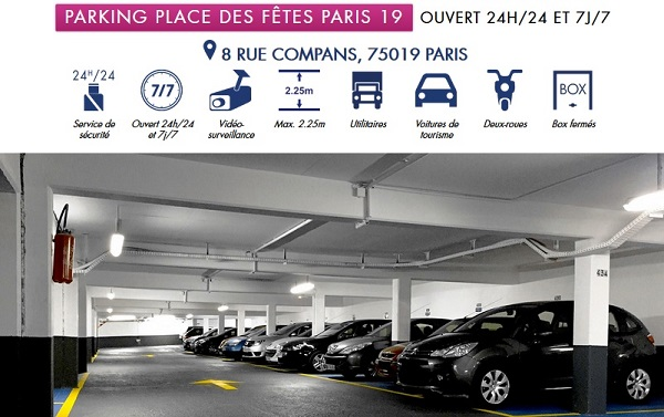 location de parking paris 19