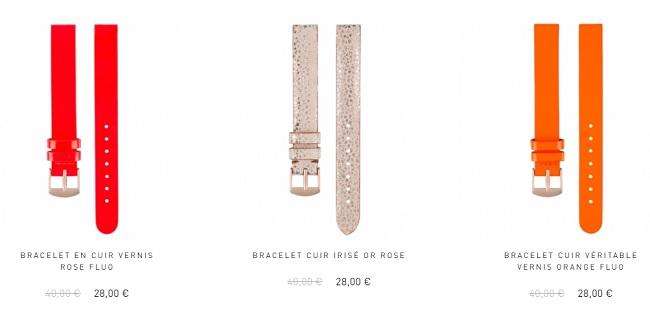 bracelet montre maille femme