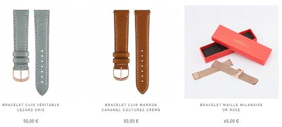 bracelets pour montre de femme