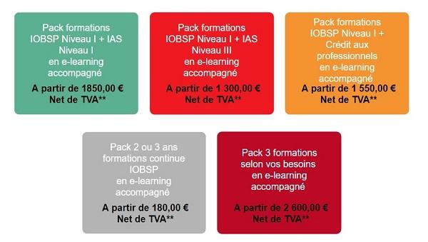 tarif formation ias