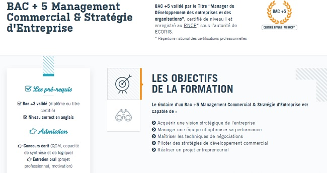 formation management commercial strategie entreprise