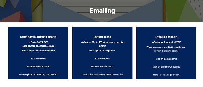 envoi emailing